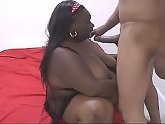 Appetizing ebony BBW goes naughty